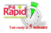 P4Rapid 5 minute test
